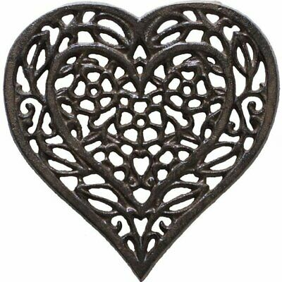 Cast Iron Heart Trivet Decorative For Kitchen Or Dining Table Vintage Design