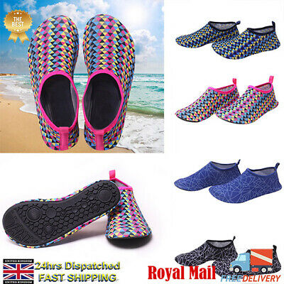 UK Mens Womens Non-Slip Water Aqua Shoes Beach Wetsuit Shoes Swim Surf Shoe Size
