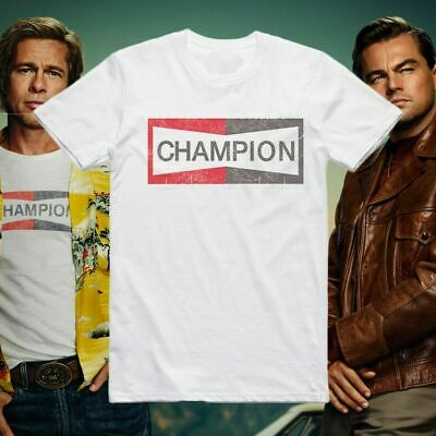Once Upon A Time In Hollywood Brad Pit Champion Mens T-Shirt Top Unisex  Tee