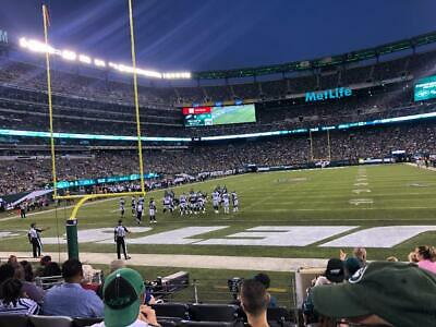 New York Jets Vs Pittsburgh Steelers - Sec 149 Row 4 On The Aisle - $620 Pair