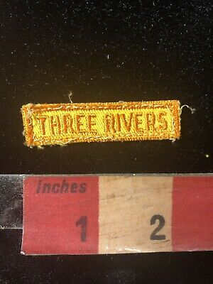 Vintage Florida THREE RIVERS STATE PARK Tab Patch 98NM
