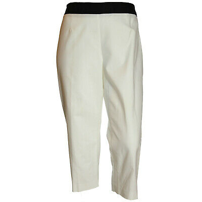 Style & Co 18w White Side Zip Relaxed Capri Pants NWT FREE SHIPPING Plus Size