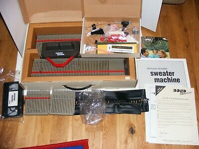 Vtg As Seen On TV Bond Incredible Sweater Machine Knitting Afghan Instructions