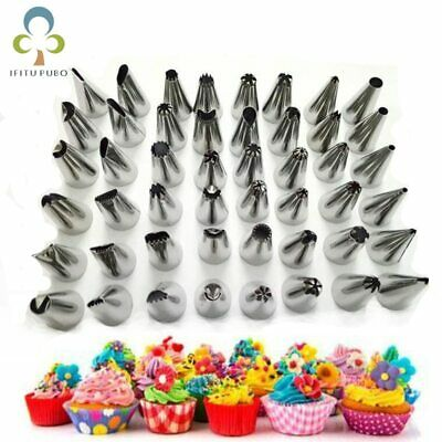 48Pcs Russian Tulip Nozzle Bakeware Icing Piping Tips Baking Pastry Cake