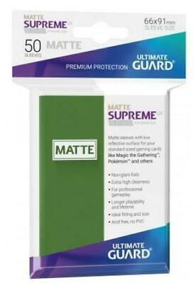 Ultimate Guard Standard Sleeves Supreme UX - Matte Green (50) MINT