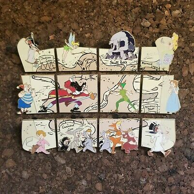 Disney Peter Pan 65th Anniversary LR Reveal Conceal Mystery COMPLETE 12 Pin Set