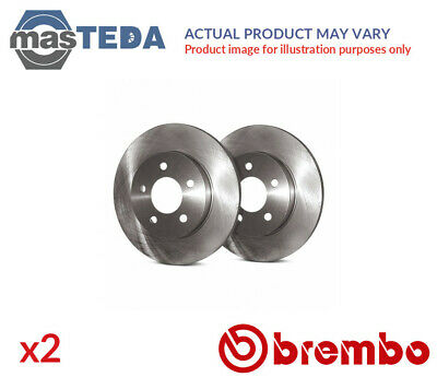 2x BREMBO FRONT BRAKE DISCS SET BRAKING PAIR 09670810 I NEW OE REPLACEMENT