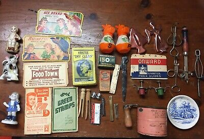 Vintage Junk Drawer Lot of Ladies Household Collectibles