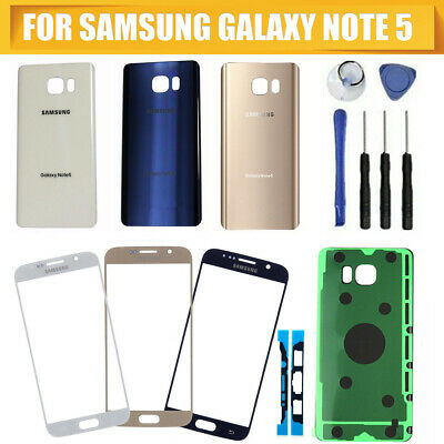 Front Screen Glass Back Replacement Glass Kit For Samsung Galaxy Note 5
