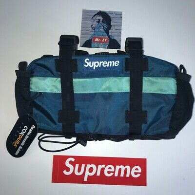 Supreme FW19 Waist Bag Authentic BOX LOGO BLUE DUFFLE BACKPACK SHOULDER PINK TNF