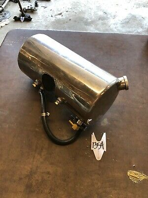 """Harley Triumph Chopper Sportster Stainless Polished Round Oil Tank 11"""" 5.75"""""""