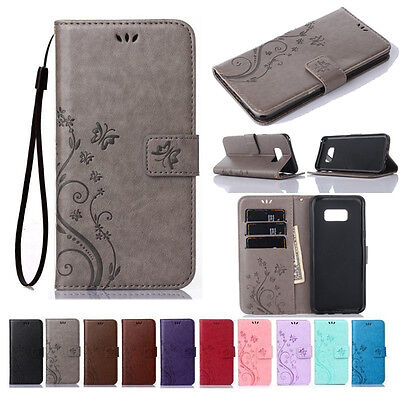For Samsung Galaxy S6 S7 S8 S9 S10 Plus Leather Wallet Case Magnetic Flip Cover
