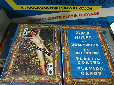 New Nos Vintage Deck Of Male Nudes Hollywood Playing Cards Sealed (Gay Interest)