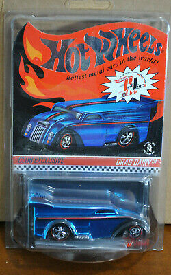 2014 Hot Wheels Red Line Club RLC Membership Club Drag Dairy Blue