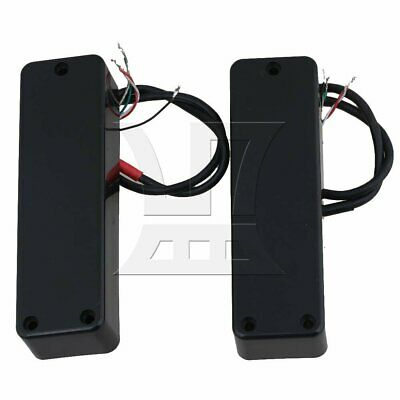 Black Plastic Electric Bass Guitar Pickup Double Coil 5-String Closed Style