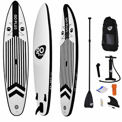 11' Inflatable Stand Up Paddle Board w/ Adjustable Paddle Travel Backpack New