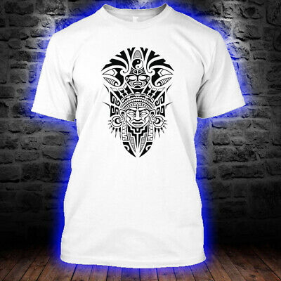 Ancient Tribal Mask Aztec tribal tattoos African T-Shirts White