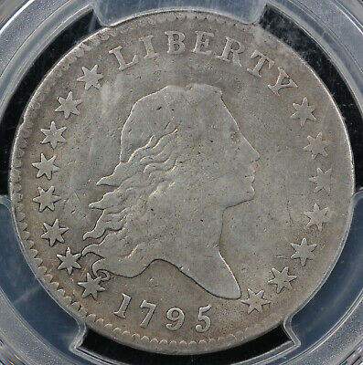 1795 50c Flowing Hair Half Dollar PCGS VG DETAILS PLUGGED