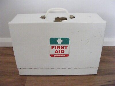Vintage 'Amada' Metal Medicine First Aid Chest / Cabinet