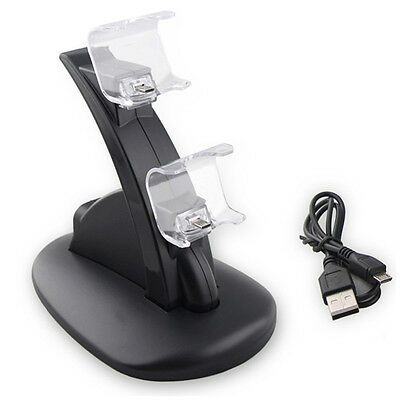 Dual Gaming Controller USB Charging Charger Docking Station Stand for PS4 _RR