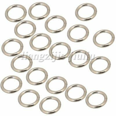 20PCS Metal Rings 20mm ID Webbing Buckles Adjusters for Backpack Silver