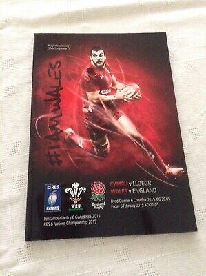 Rugby Union Programmes wales v england 2015