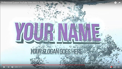 Professional Custom YouTube Video Intro 720p HD. Plunging, Water Theme, Dunking!