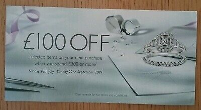 Ernest Jones £100 Off When You Spend £300 Or More Voucher Online Or In-store 🎁⌚