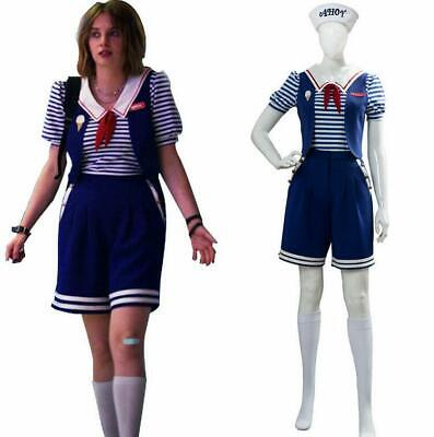 Stranger Things Season 3 Cosplay Robin Scoops Ahoy Costume Dress Uniform Outfits
