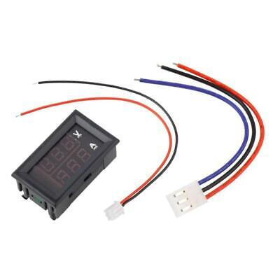 Voltmeter Ammeter 0-100V 0-10A Dual LED Display Panel Amp Volt Current Meter