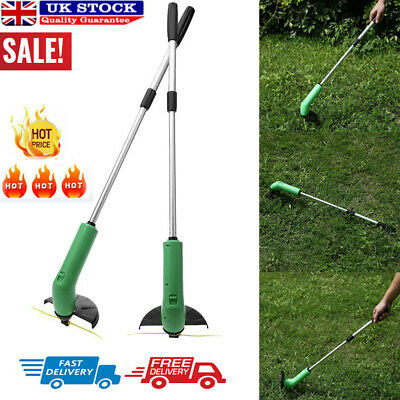 Electric Cordless Garden Grass Trimmer Heavy Duty Weed Strimmer Cutter Tool Set