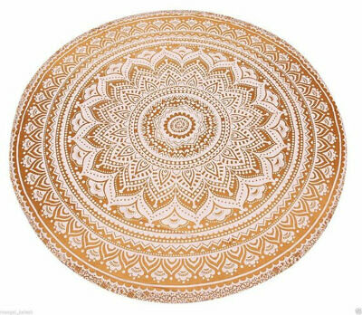 "45"" Ombre Tapestry Mandala Cotton Yoga Mat Indian Round Tablecloth Beach Mat"