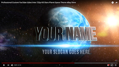 Professional Custom YouTube Video Gaming Intro 720p HD Stars Planet Space Theme!