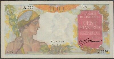 French Indochina 100 Piastres Banknote P-82a ND 1947