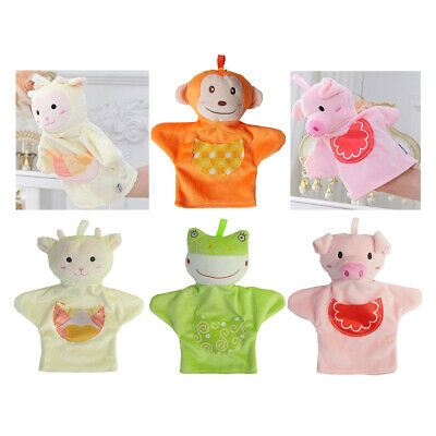 Kids Soft Plush Hand Puppet Animal Glove Puppet Pretend Play Game Toys