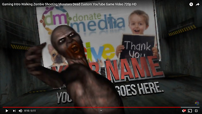 Gaming Intro Walking Zombie Shooting Monster Dead Custom YouTube Game Video 720p