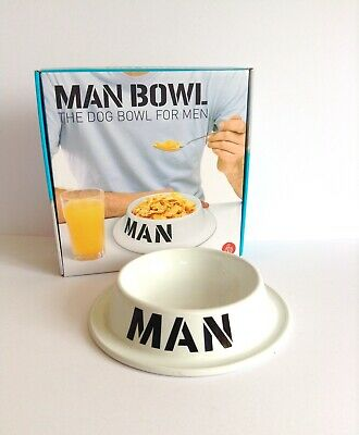 Man Bowl The Dog Bowl For Men Gift Novelty Funny Xmas Thumbs Up Cereal Ceramic