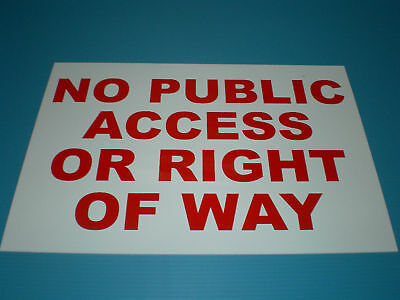 Private Property Residents Parking Only No Public Access 20cmx30cmx3mm Foamex