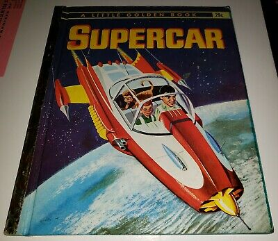 Supercar Little Golden Book Vintage 1962 Gerry Anderson Sci-Fi Cult