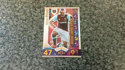 Match Attax 2016/17 Le7 Dimitri Payet Bronze Limited Edition Great