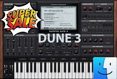 DUNE 3 Vst Plug-In 🔥 For Mac ✔️ Instant Email Delivery 30s 📥