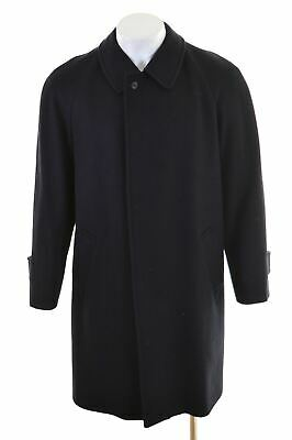 arrives top quality new lifestyle AQUASCUTUM MENS BALMACAAN Coat Size 40 Large Navy Blue Wool ...