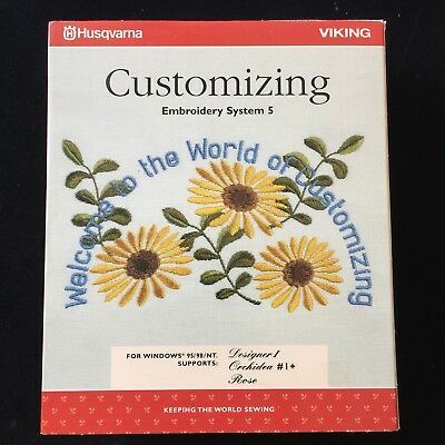 Husqvarna Viking Customizing Embroidery System 5 Software V 5.0- Includes Dongle