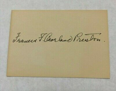 AUTOGRAPH of Frances F. Cleveland Preston, First Lady of the US until 1897