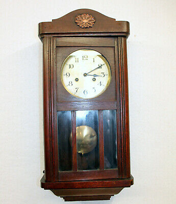 Antique Wall Clock Chime Clock Regulator 1920th