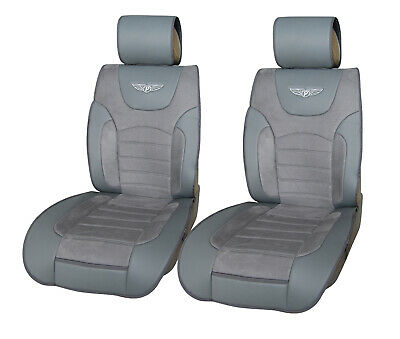 Black//Tan PU Leather Front Car Seat Covers Cushion for Chrysler #80205