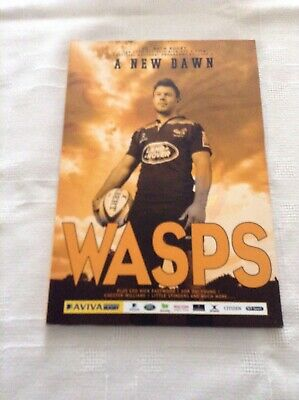 Rugby Union Programmes wasps v bath 2014