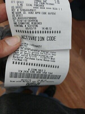 WAL-MART Gears of war 5 EXCLUSIVE ROCKSTAR CODE only digital delivery WAL-MART
