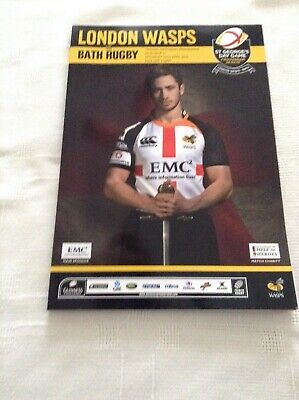 Rugby Union Programme wasps v bath at twickenham 2010 st georges game