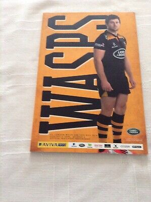 Rugby Union Programmes london welsh v wasps 2014